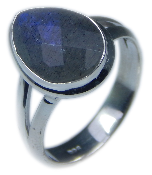 Design 21588: blue,gray labradorite rings