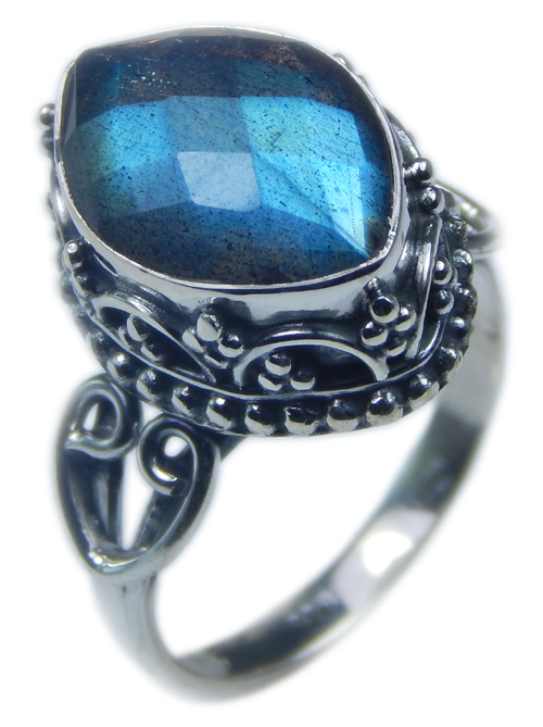 Design 21590: blue,gray labradorite rings