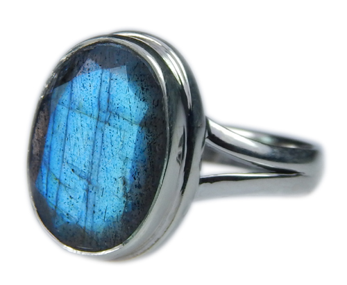 Design 21591: blue,gray labradorite rings