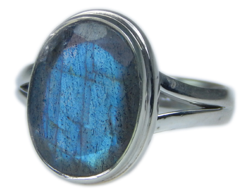 Design 21592: blue,gray labradorite rings