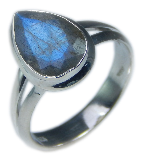 Design 21594: blue,gray,yellow labradorite rings