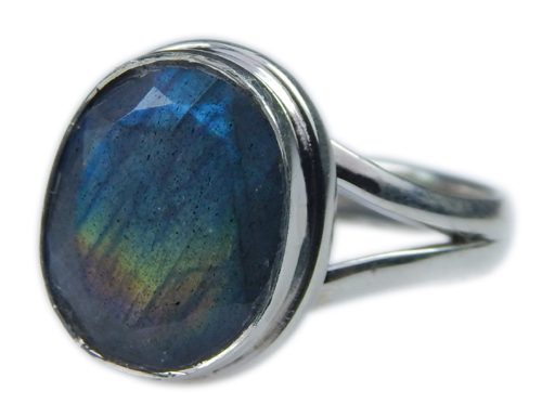 Design 21595: blue,gray,yellow labradorite rings