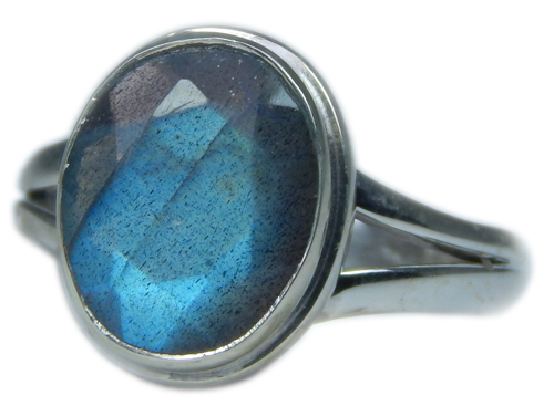 Design 21596: blue,gray,yellow labradorite rings
