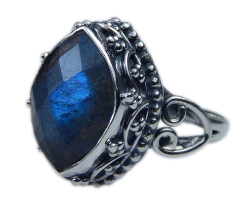 Design 21598: blue,gray labradorite rings