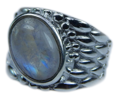 Design 21647: blue,white moonstone rings