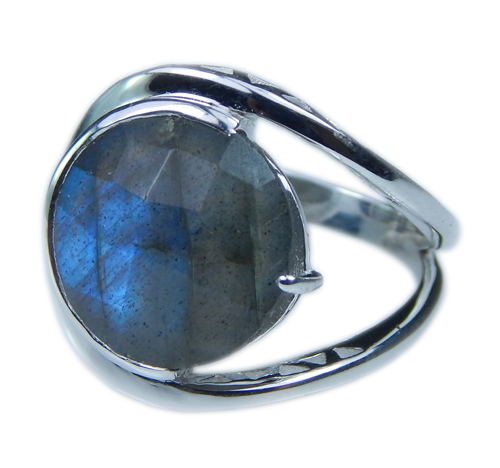 Design 21648: blue,gray labradorite rings