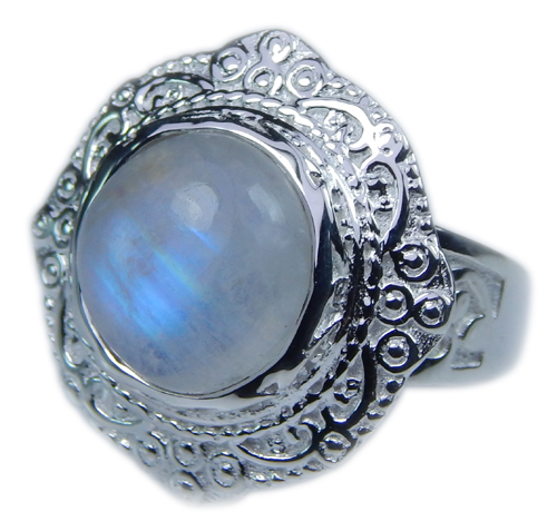 Design 21649: blue,white moonstone rings