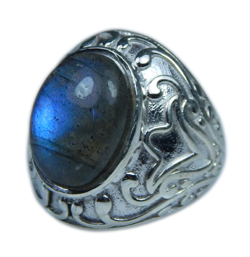 Design 21651: blue,gray labradorite rings