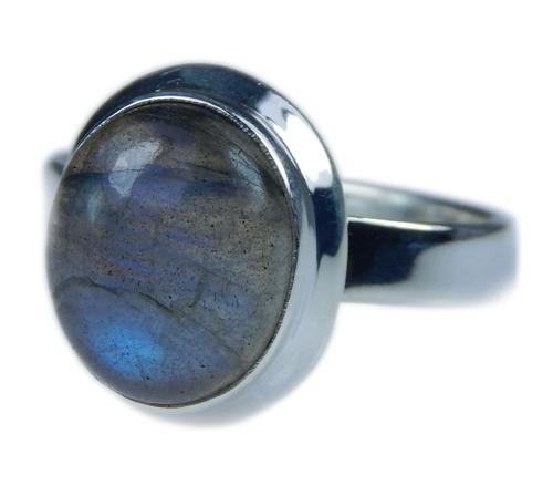 Design 21652: blue,gray labradorite rings