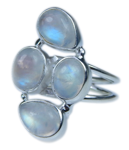 Design 21654: blue,white moonstone rings