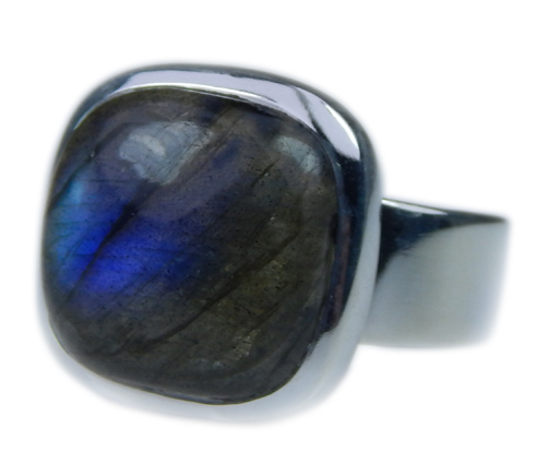 Design 21655: blue,gray labradorite rings