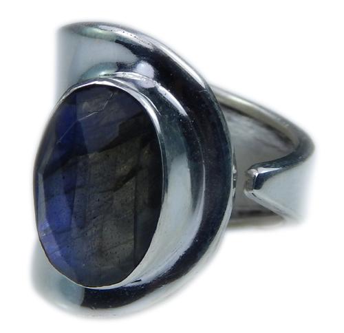 Design 21656: blue,gray labradorite rings