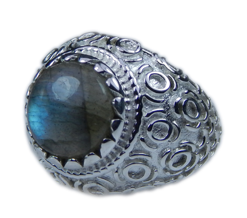 Design 21658: blue,gray labradorite rings