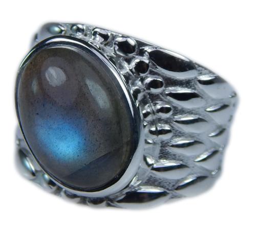 Design 21662: blue,gray labradorite rings