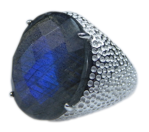 Design 21663: blue,gray labradorite rings