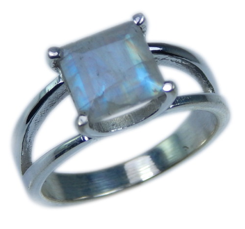 Design 21664: blue,white moonstone rings