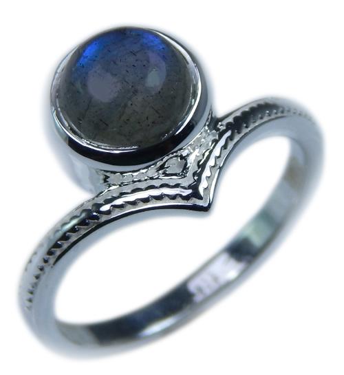 Design 21671: blue,gray labradorite rings