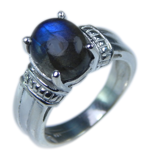 Design 21674: blue,gray labradorite rings
