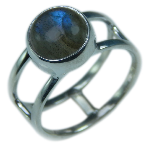 Design 21676: blue,gray labradorite rings