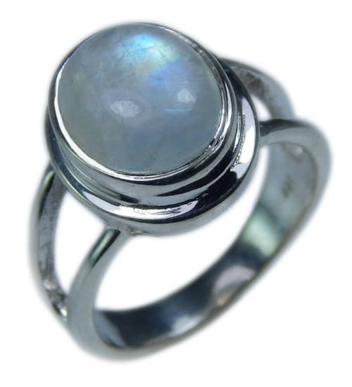 Design 21680: blue,white moonstone rings