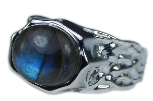 Design 21681: blue,gray labradorite rings