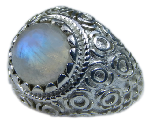 Design 21688: blue,white moonstone rings