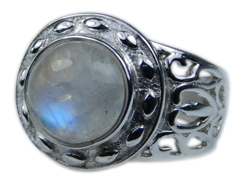 Design 21691: blue,white moonstone rings