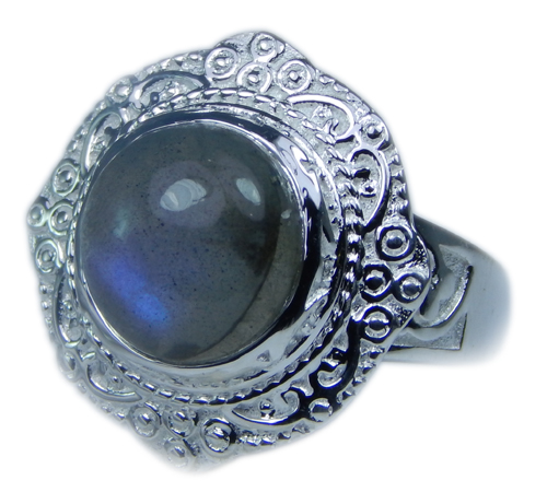 Design 21692: blue,gray labradorite rings