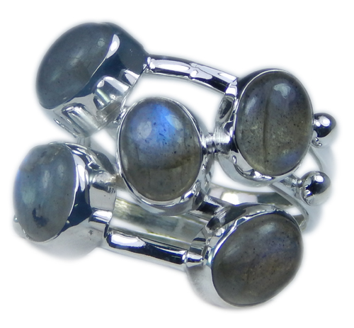 Design 21693: blue,gray labradorite rings