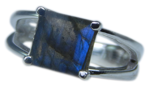 Design 21698: blue,gray labradorite rings