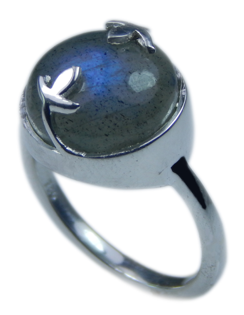 Design 21699: blue,gray labradorite rings