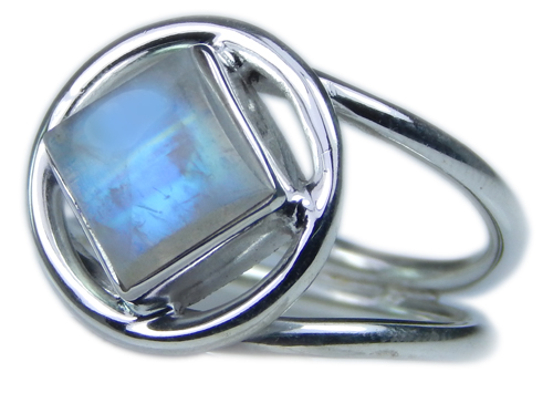 Design 21700: blue,white moonstone rings