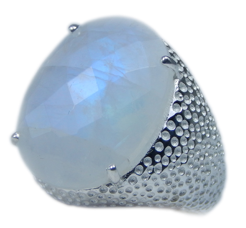 Design 21705: blue,white moonstone rings