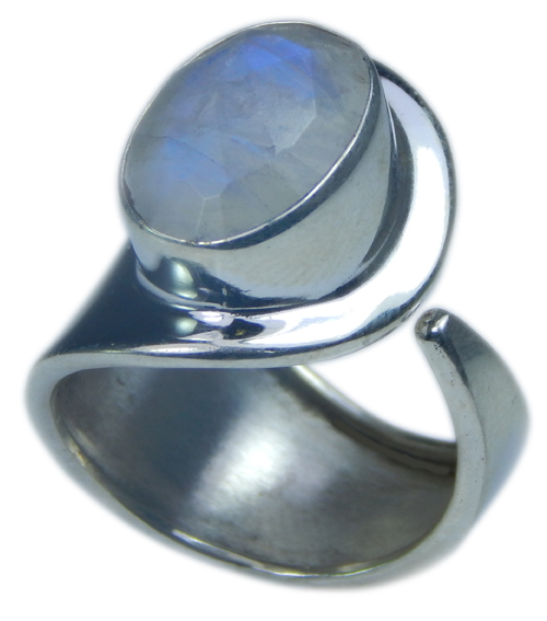 Design 21708: blue,white moonstone rings