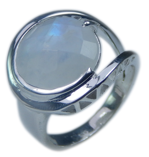Design 21709: blue,white moonstone rings