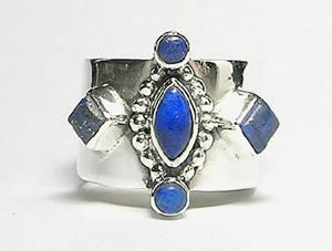 Design 3078: blue lapis lazuli rings