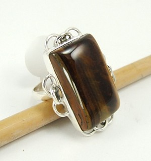 Design 3118: brown tiger eye rings