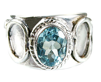Design 5060: blue cubic zirconia gothic-medieval rings