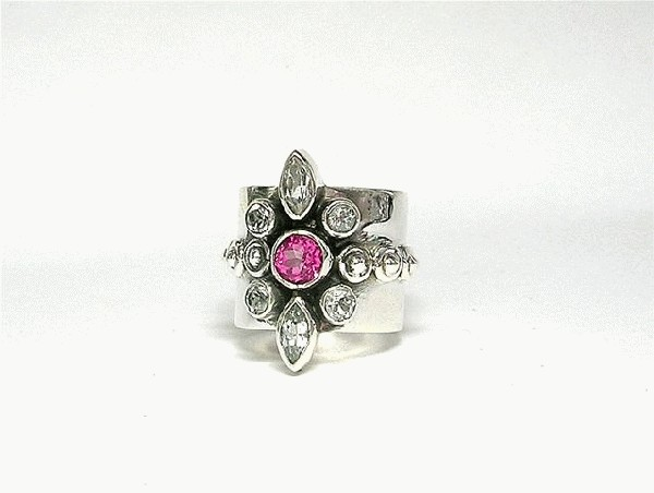 Design 5413: pink,white pink topaz rings