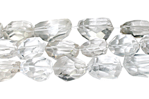 Design 10316: white crystal faceted beads