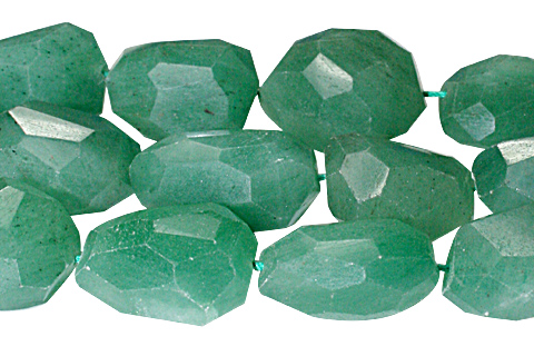 Design 10317: green aventurine faceted beads
