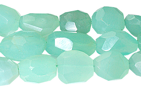Design 10318: Green onyx faceted, nuggets beads