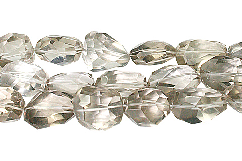 Design 10319: Brown crystal faceted, nuggets beads