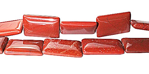 Design 11726: red jasper rectangular beads