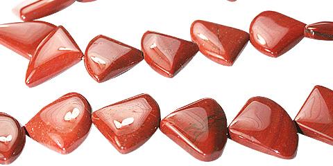 Design 11727: red jasper beads