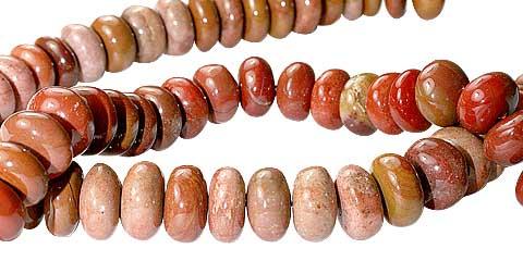 Design 11730: red jasper beads