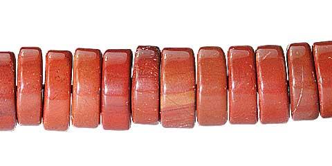 Design 11737: Red jasper beads