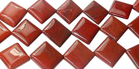 Design 11738: red jasper beads