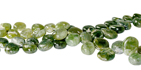 Design 11777: Green chrysoprase tear-drop beads
