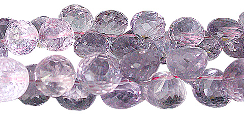 Design 11784: purple amethyst briolettes beads